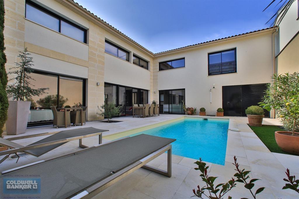 Villa contemporaine de standing avec piscine BORDEAUX LE BOUSCAT