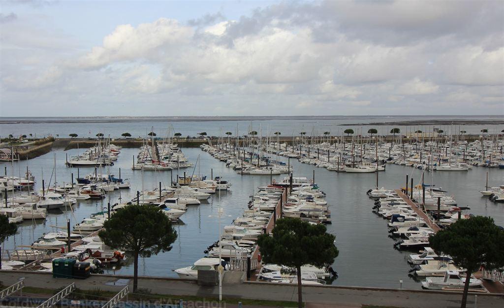 Acheter  appartement traversant avec vue port de plaisance Arcachon