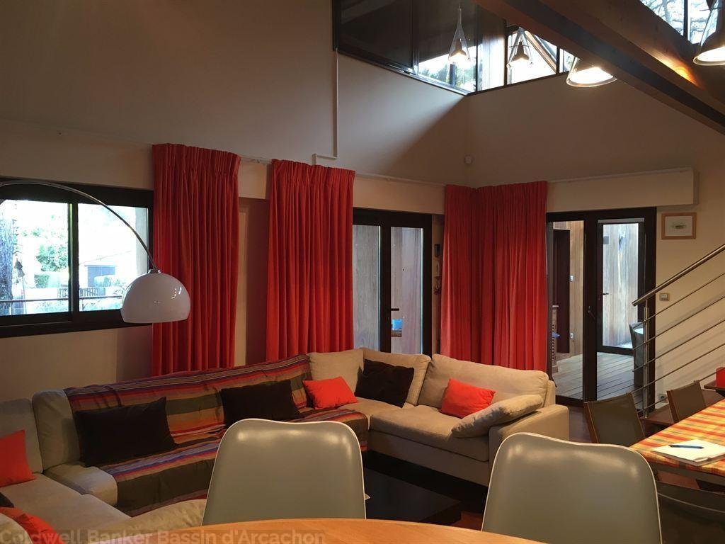 Villa en bois r cente 5 chambres proche plage vendre cap ferret centre immobilier de luxe - Chambre des coproprietaires ...