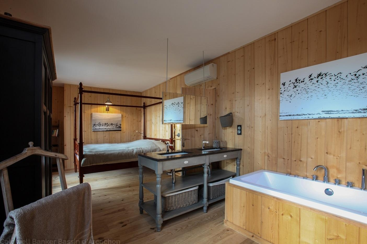 location cap-ferret chambre parentale avec salle de bains privative