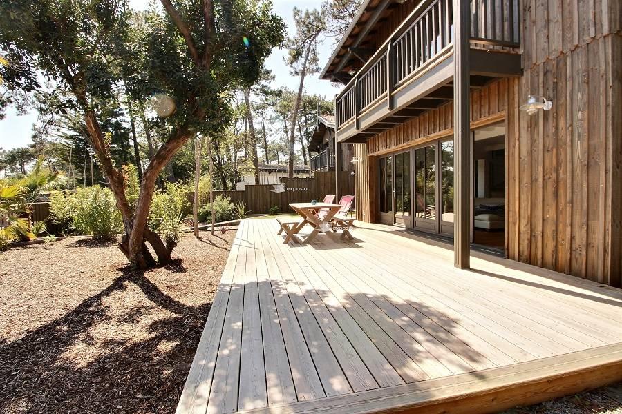 location villa bois 4 chambres 8 personnes Grand Piquey Cap Ferret