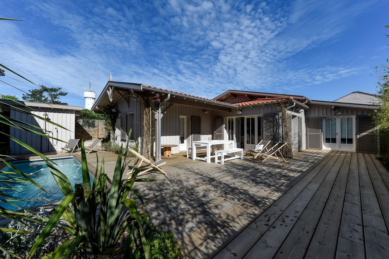 Villa de charme avec piscine à louer sur Cap-Ferret centre