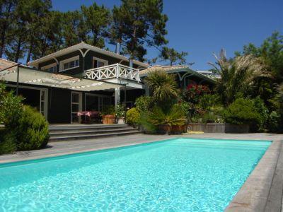 Location superbe villa avec piscine proche cap-ferret