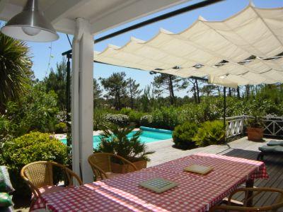 Location saisonnière avec piscine quartier résidentiel proche cap-ferret