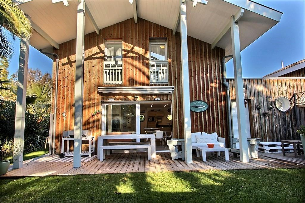 Location villa bardée de bois centre Cap-Ferret