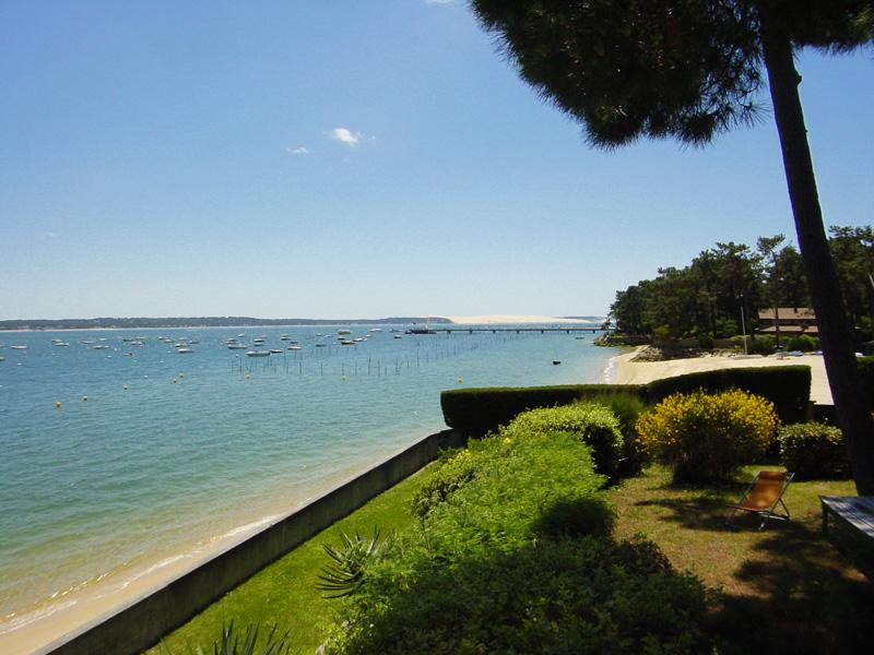 Location Villa 5 chambres - 10 personnes - première ligne bassin - accès direct plage à louer CAP-FERRET