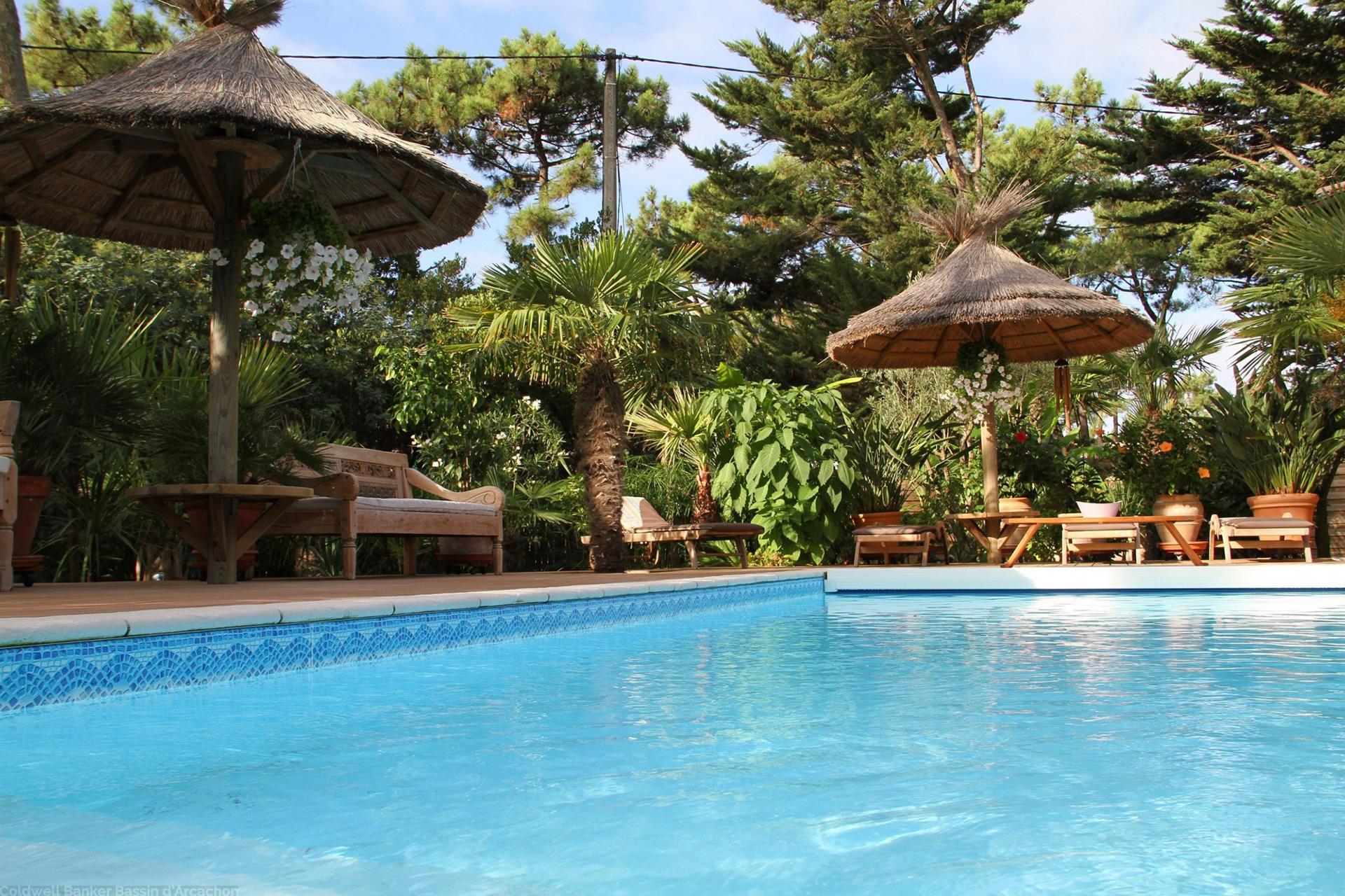 Vente villa cap ferret de luxe avec 4 chambres et piscine immobilier de luxe coldwell banker - Hotel luxe cap ferret ...