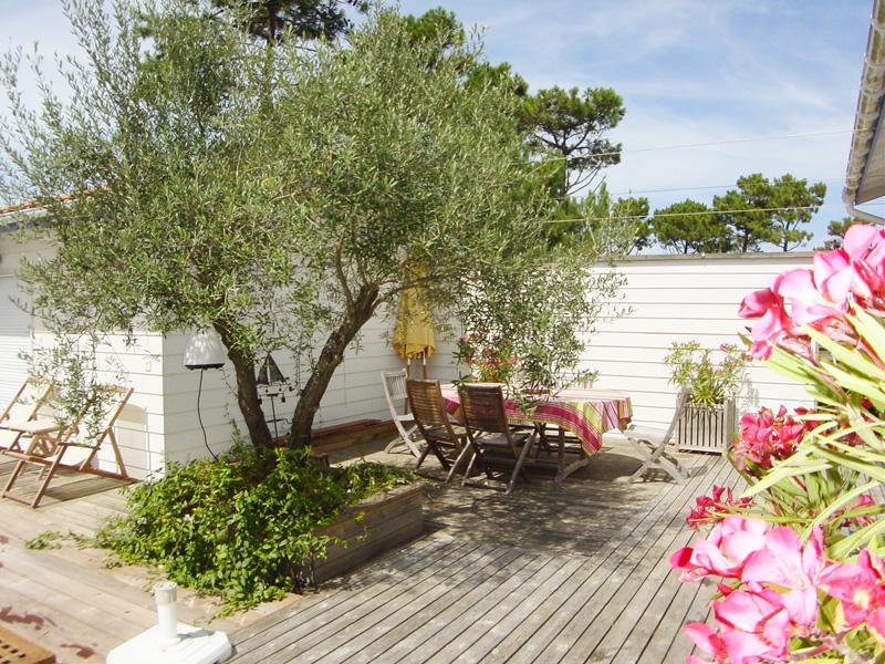 Villa à louer avec superbe terrasse et piscine proche du cap-ferret