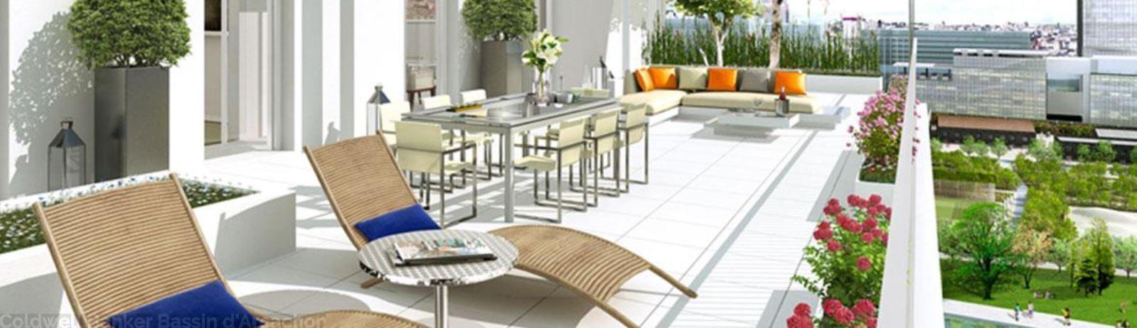 Acheter un nouvel appartement neuf à Bordeaux de 4 chambres avec terrasse et vue sur le fleuve