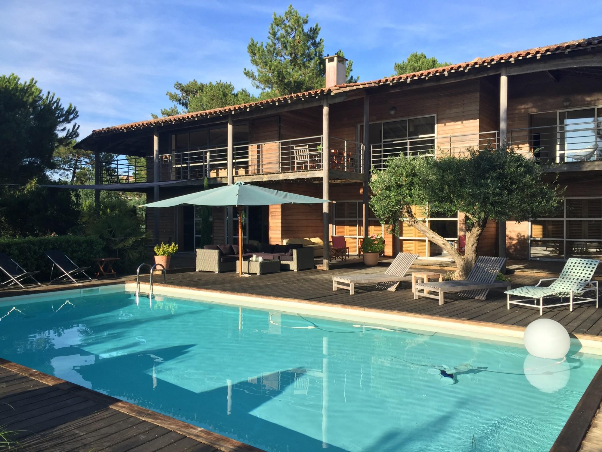 location villa familiale 12 personnes arcachon pyla 6 chambres