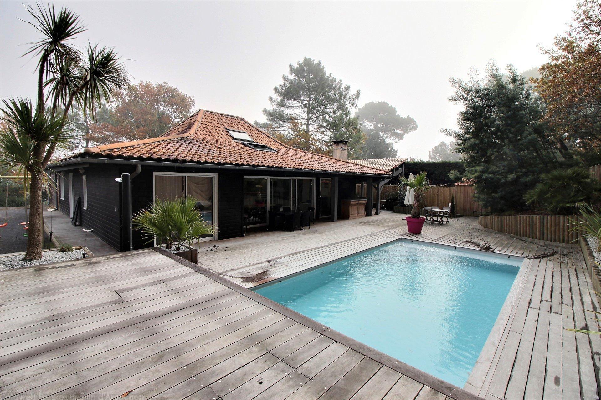 Acheter maison familiale ossature bois 5 chambres bassin arcachon la teste de buch