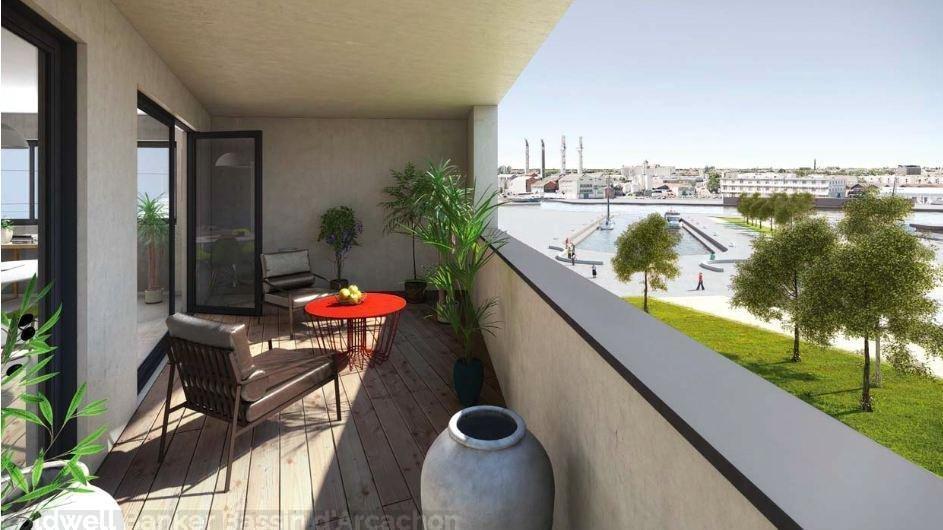 Acheter un appartement duplex de 96m² avec 4 chambres et une terrasse à Bordeaux Bassin à flots