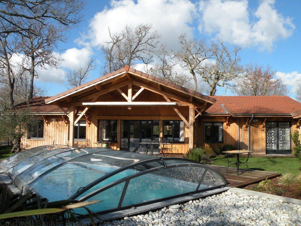 vente maison villa nord bassin andernos villa neuve ossature bois 4 chambres piscine. Black Bedroom Furniture Sets. Home Design Ideas