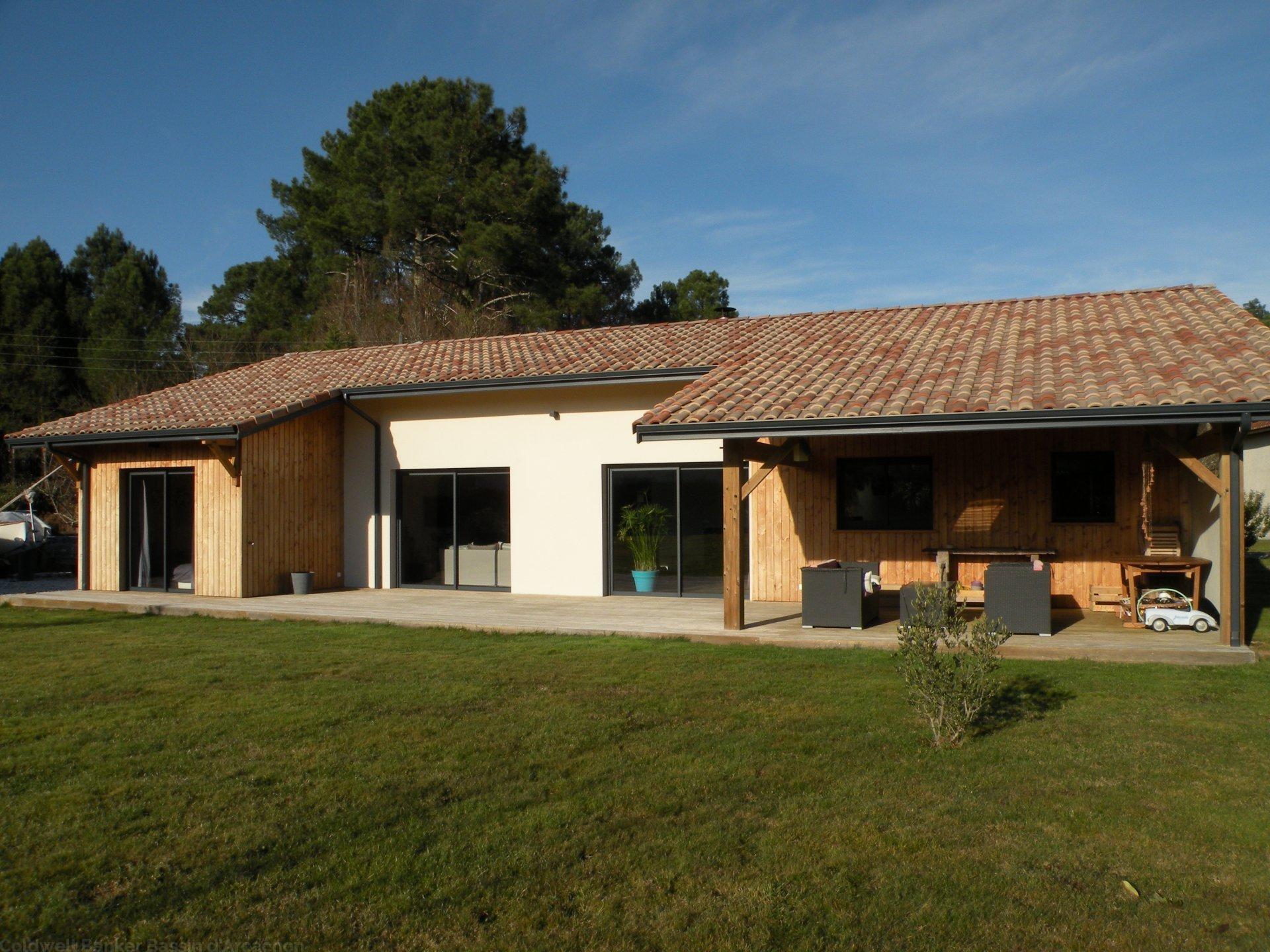 Vente maison villa bassin d 39 arcachon salles maison for Villa ossature bois