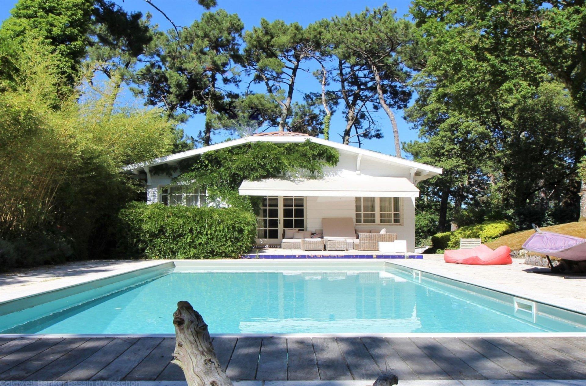 Vente propri t avec villa piscine et grand terrain - Camping dune du pyla avec piscine ...