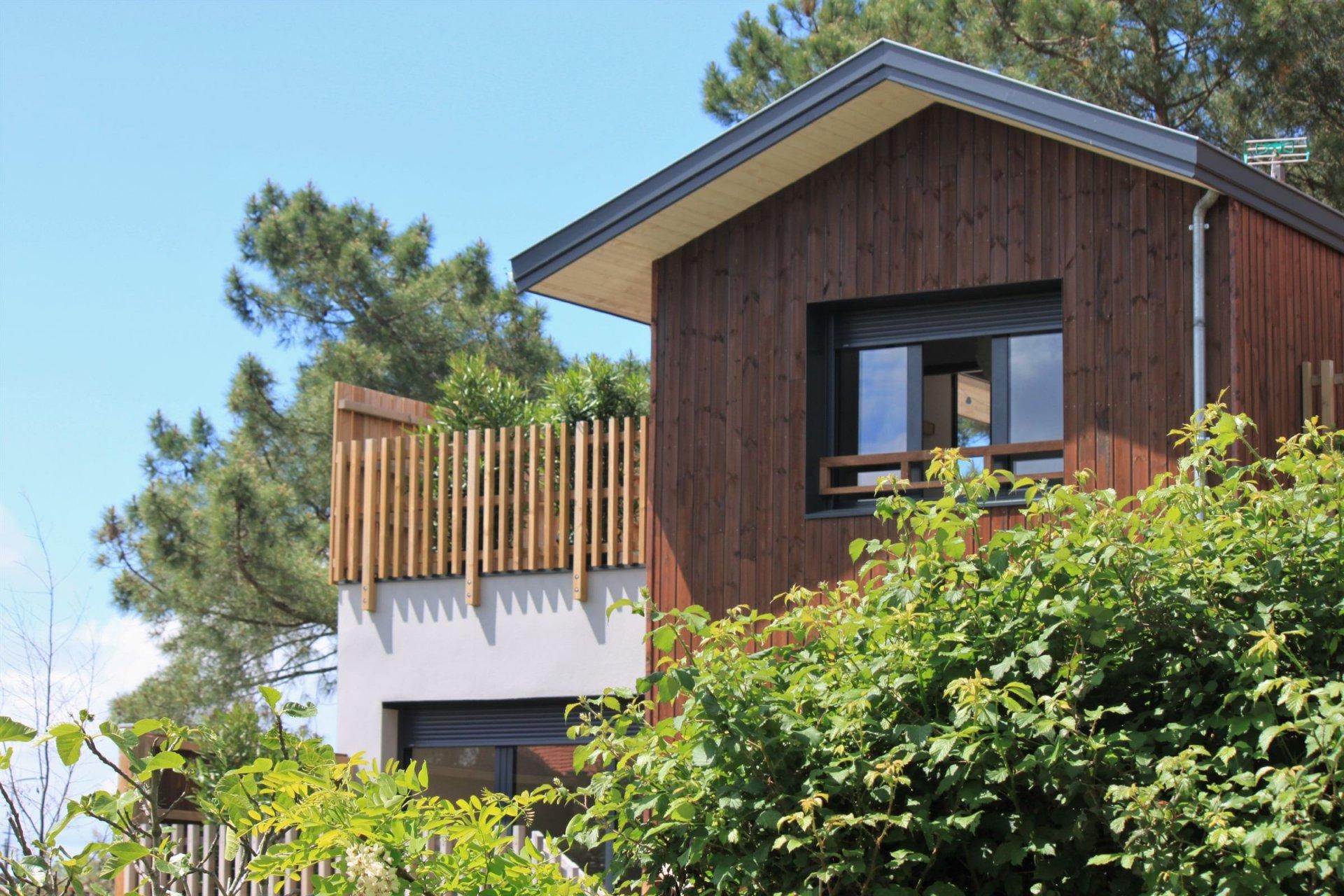 achat maison architecte en ossature bois avec 3 chambres Bassin Arcachon