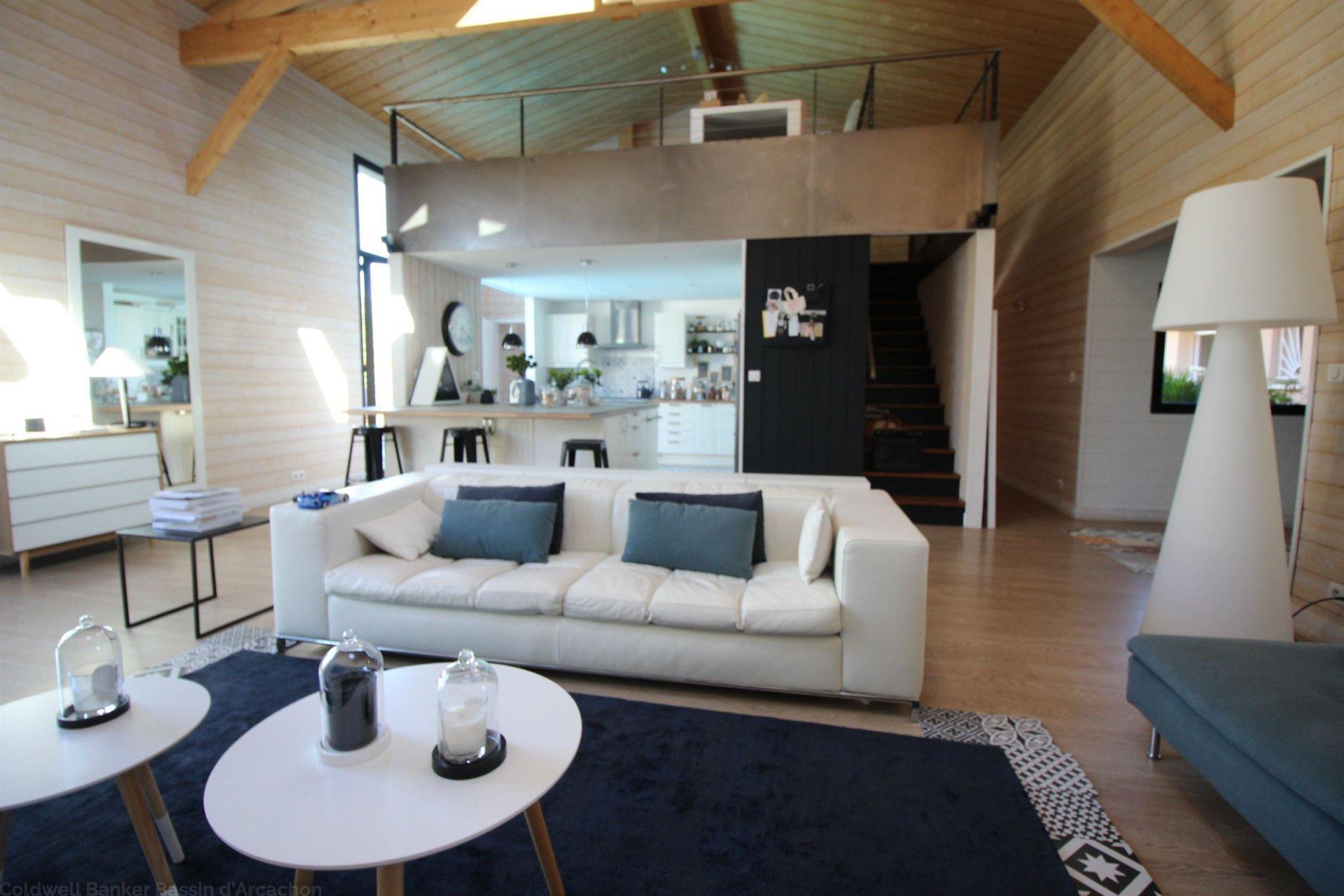 villa style loft moderne a vendre bassin d'arcachon