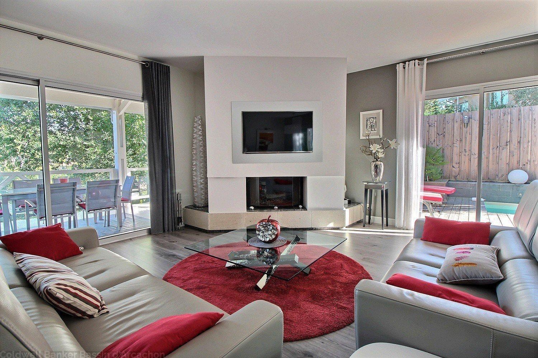 Achat villa contemporaine 4 chambres avec piscine Le moulleau arcachon