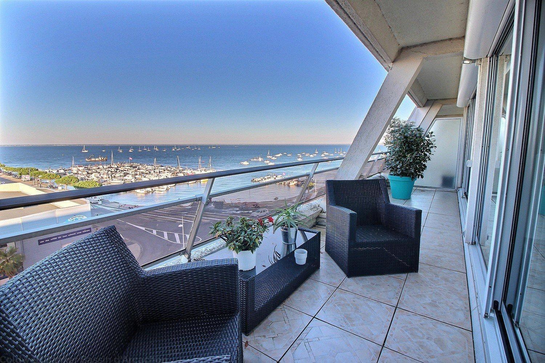 Appartement à vendre arcachon centre vue exceptionnelle sur le bassin et le port de plaisance