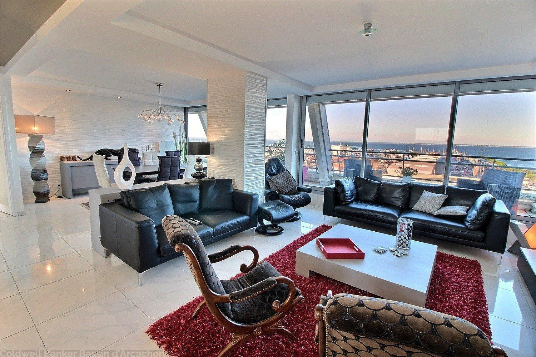 appartement aménagé par un architecte d'intérieur à vendre arcachon centre