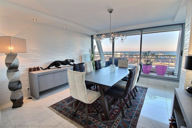 appartement de 132 m2 habitables donnant sur le bassin d'arcachon
