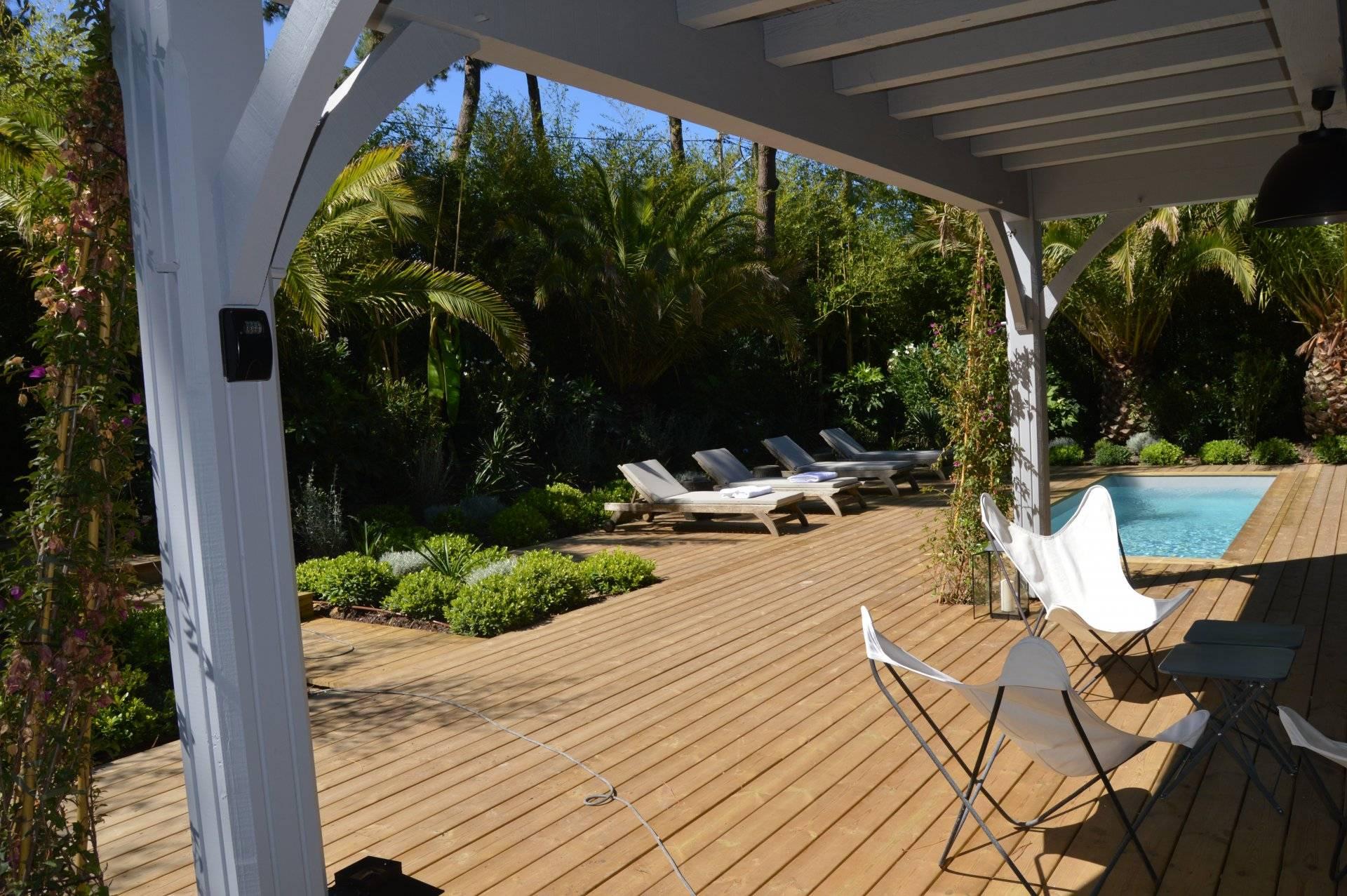 Vente maison bois moderne neuve avec piscine CAP FERRET VILLAGE ...