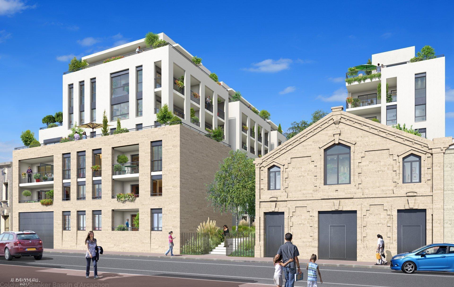 Appartement neuf à vendre au 5e étage avec loggia, à 2 pas de la gare de Bordeaux Euratlantique