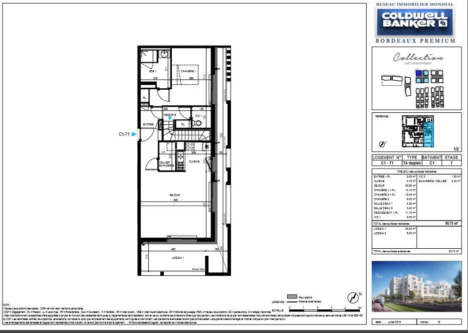 duplex neuf de standing avec grandes terrasses le bouscat coldwell banker. Black Bedroom Furniture Sets. Home Design Ideas