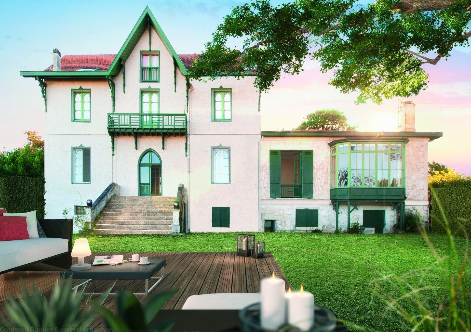 Vente appartement avec vue panoramique dans villa historique arcachon