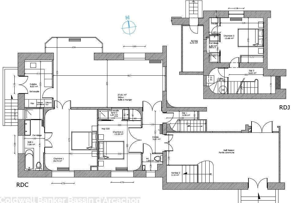 plan appartement à vendre arcachon centre ville