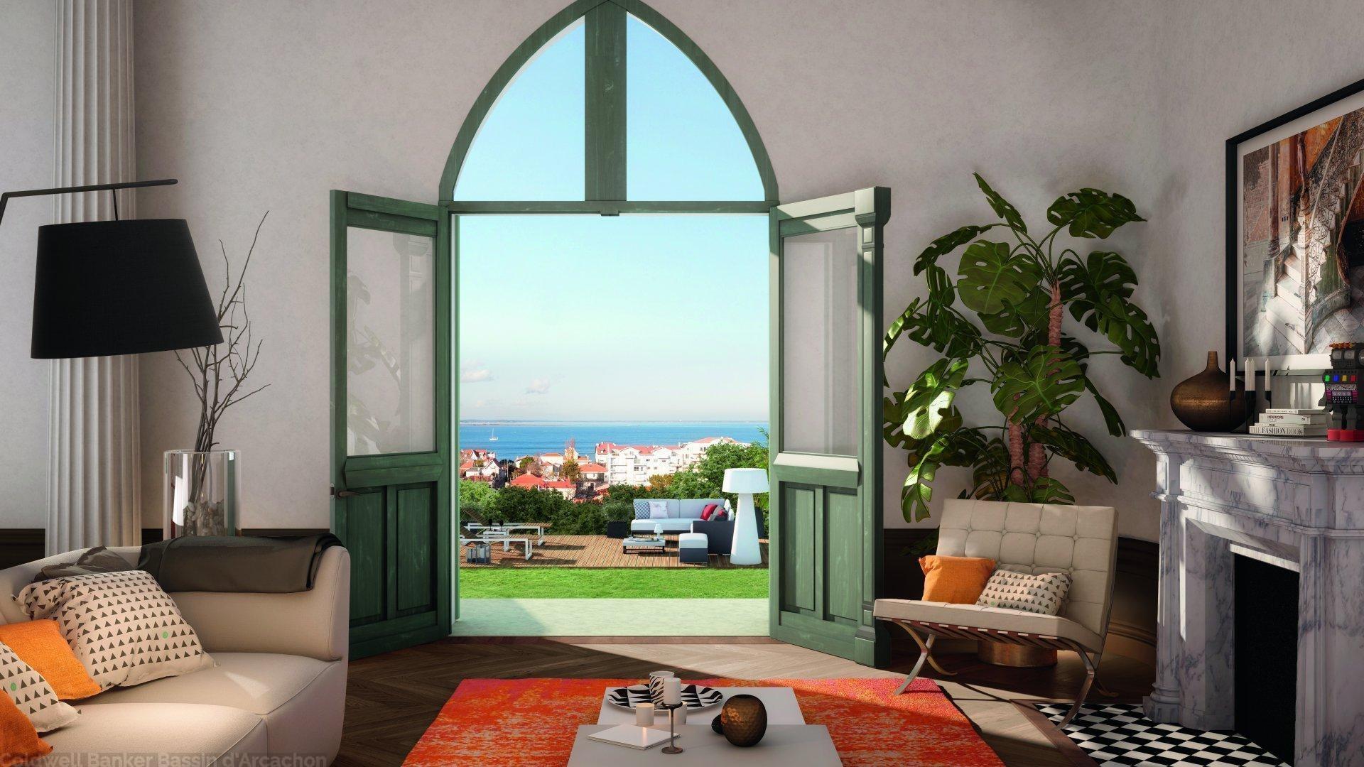 appartement à vendre à arcachon avec vue panoramique sur le bassin