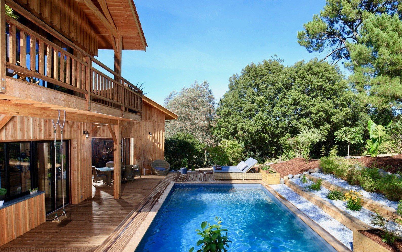 Villa en vois à vendre pyla sur mer avec 4 chambres et piscine