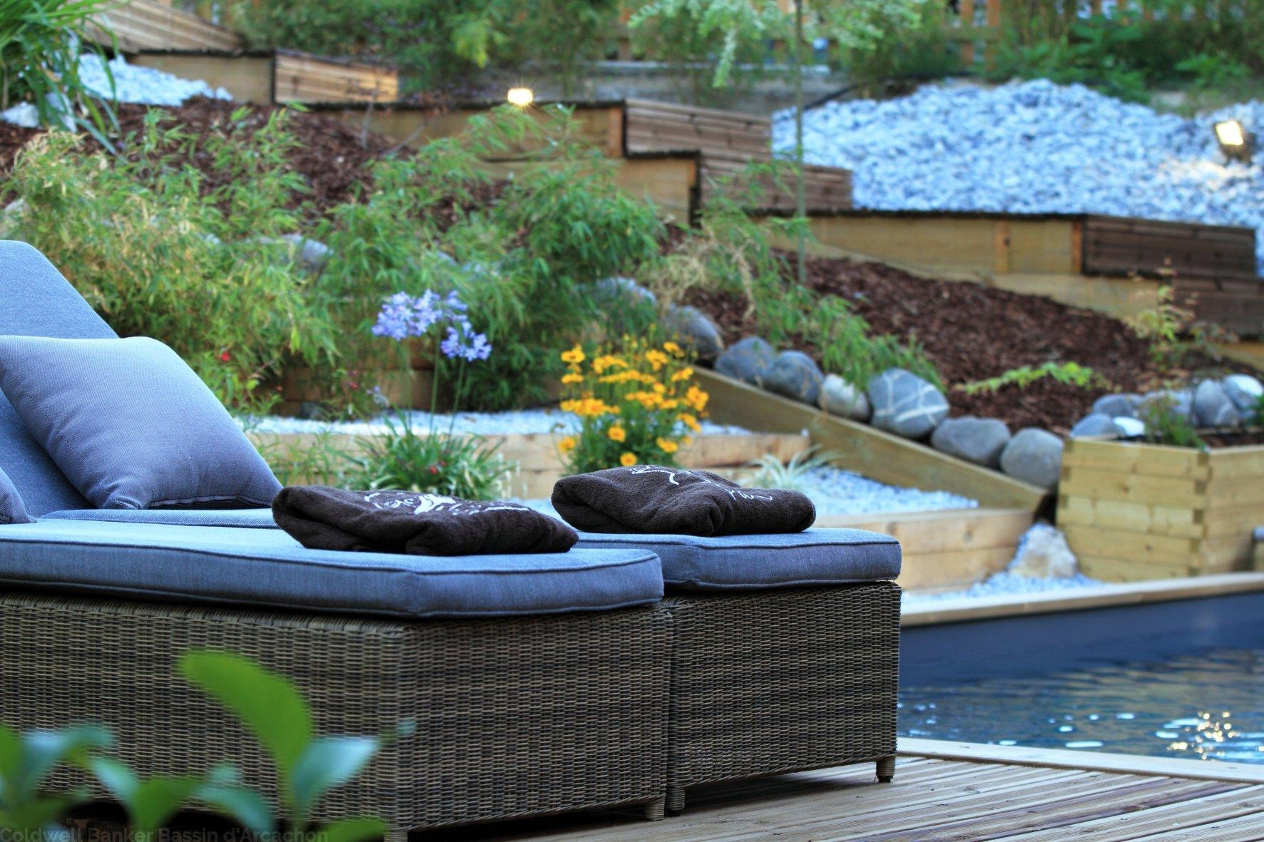 Magnifique villa à vendre pyla sur mer avec terrasses et piscine bassin d'arcachon