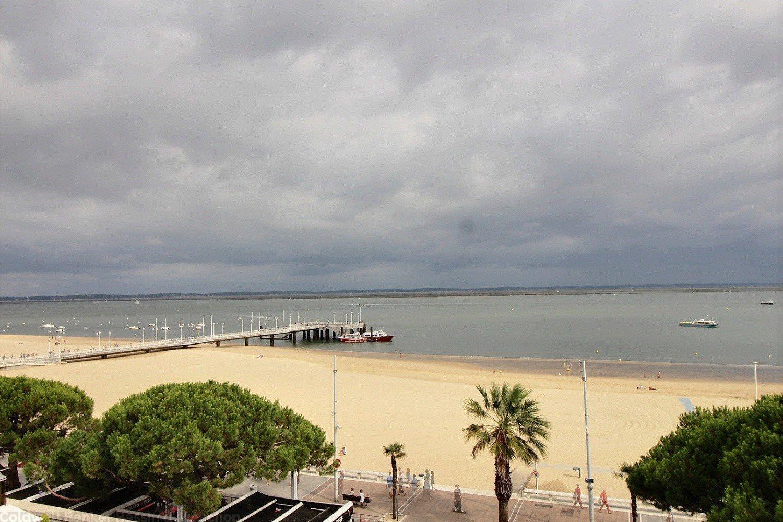 appartement terrasse vue mer a vendre arcachon