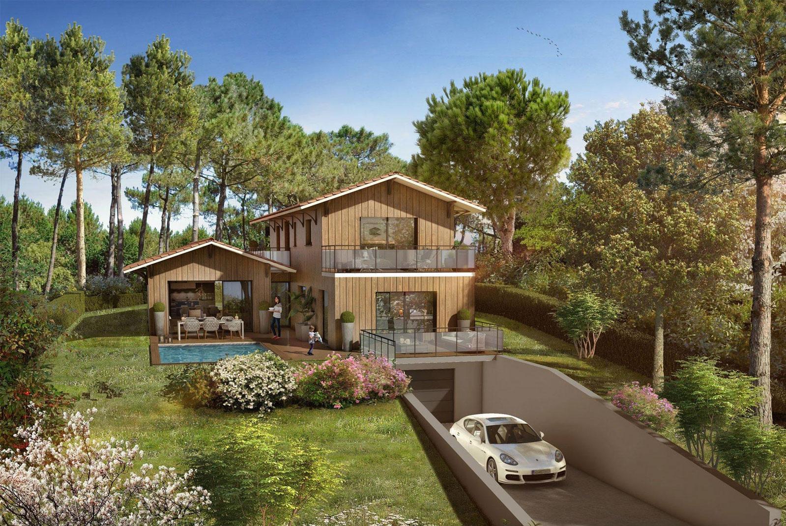 villa neuve vue bassin a vendre pyla sur mer