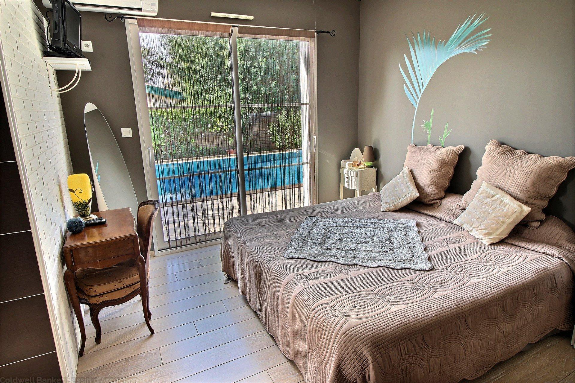 Recherche maison plain pied 4 chambres avec piscine bassin arcachon