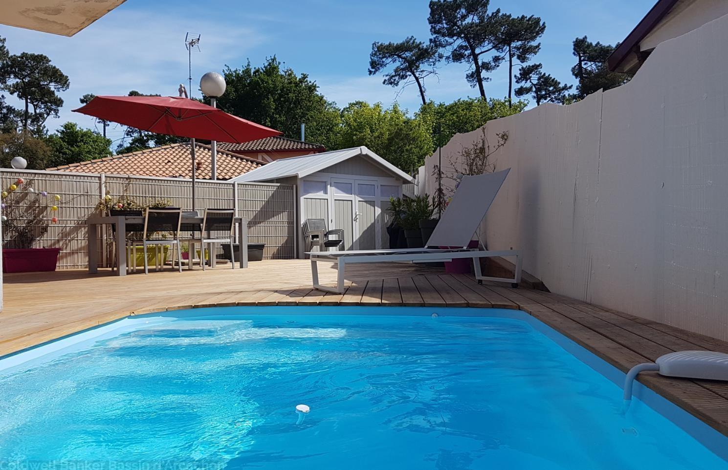 Acheter maison idéale pied a terre avec jardin et piscine proche plage arcachon le moulleau