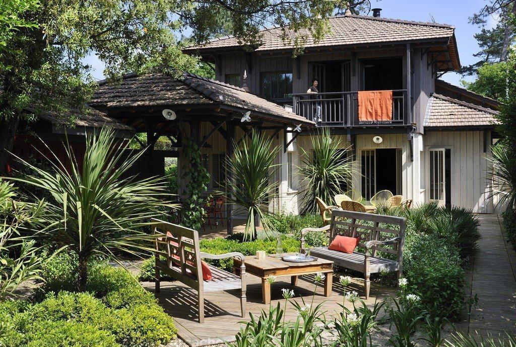 maison bardage bois 5 chambres vue bassin a vendre pyla sur mer