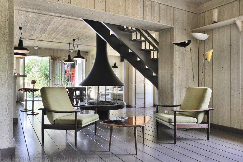 Vente maison bardage bois 5 chambres vue bassin pyla sur mer