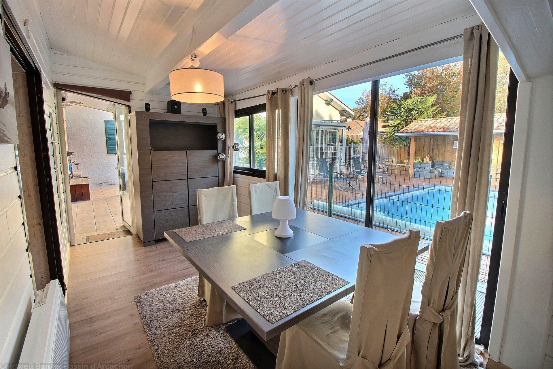 Acheter maison familiale 5 chambres avec terrain et piscine gujan mestras