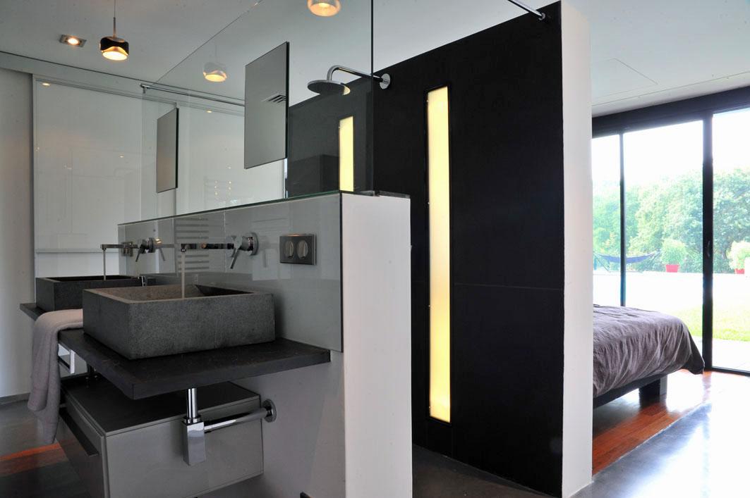 villa d'architecte chambre avec salle de bain pyla