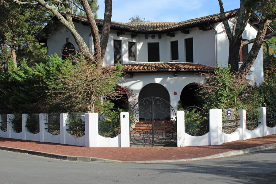 achat grande villa familiale basque-espagnol arcachon moulleau