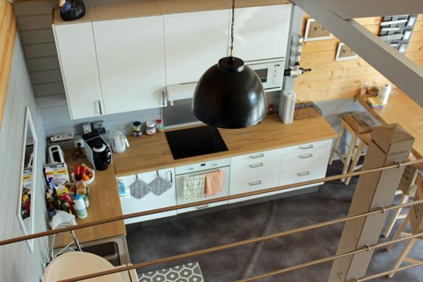 vente maison bois avec cuisine américaine bassin d'arcachon