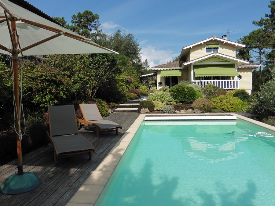 Villa architecte piscine Lège cap ferret