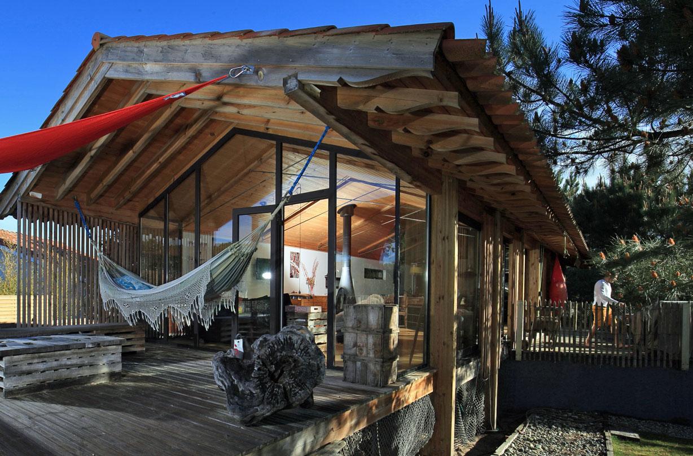 recherche villa en bois 3 chambres à la vente landes