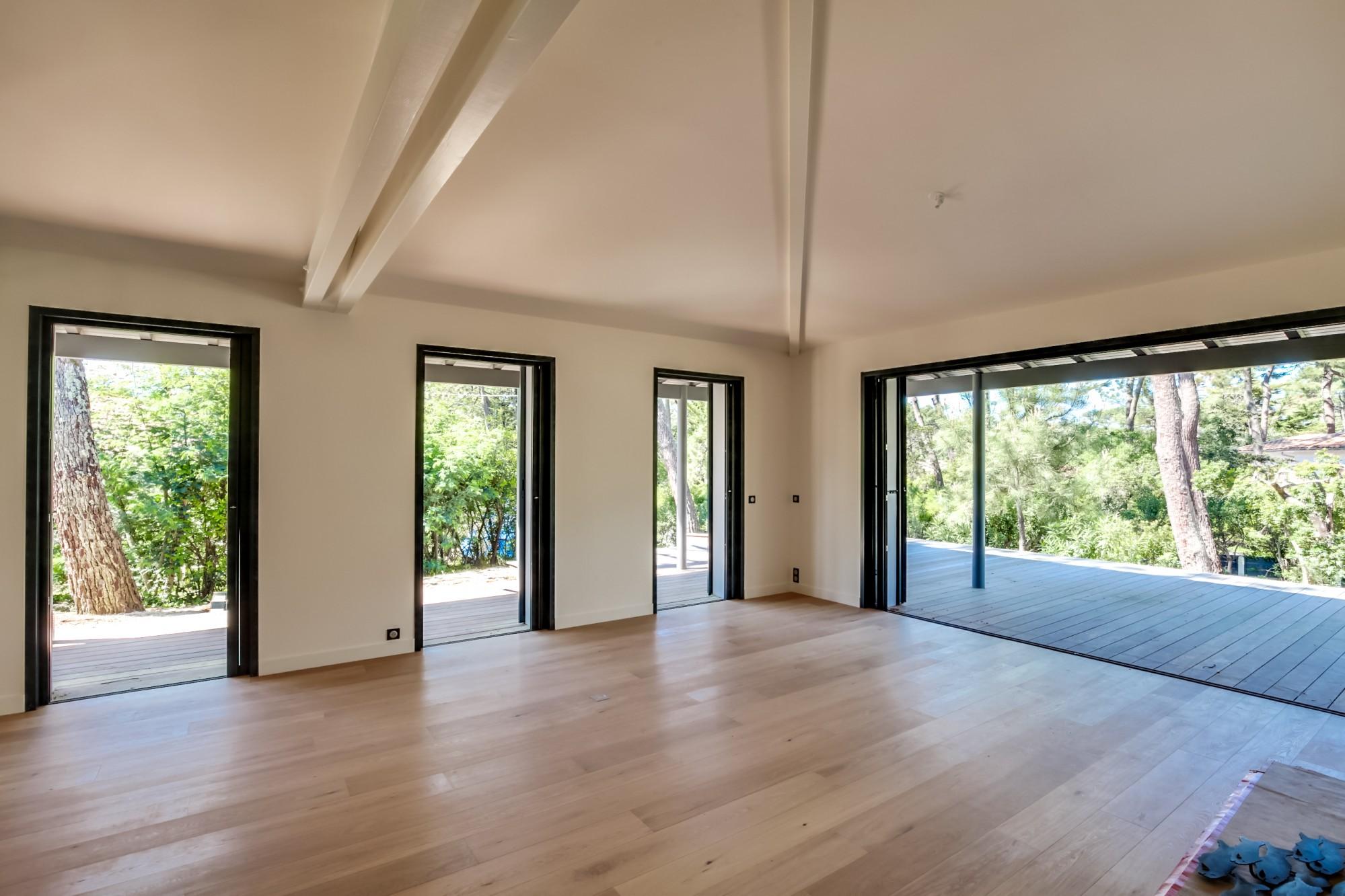 villa d 39 architecte r cente avec 4 chambres vendre lege cap ferret le mimbeau immobilier de. Black Bedroom Furniture Sets. Home Design Ideas