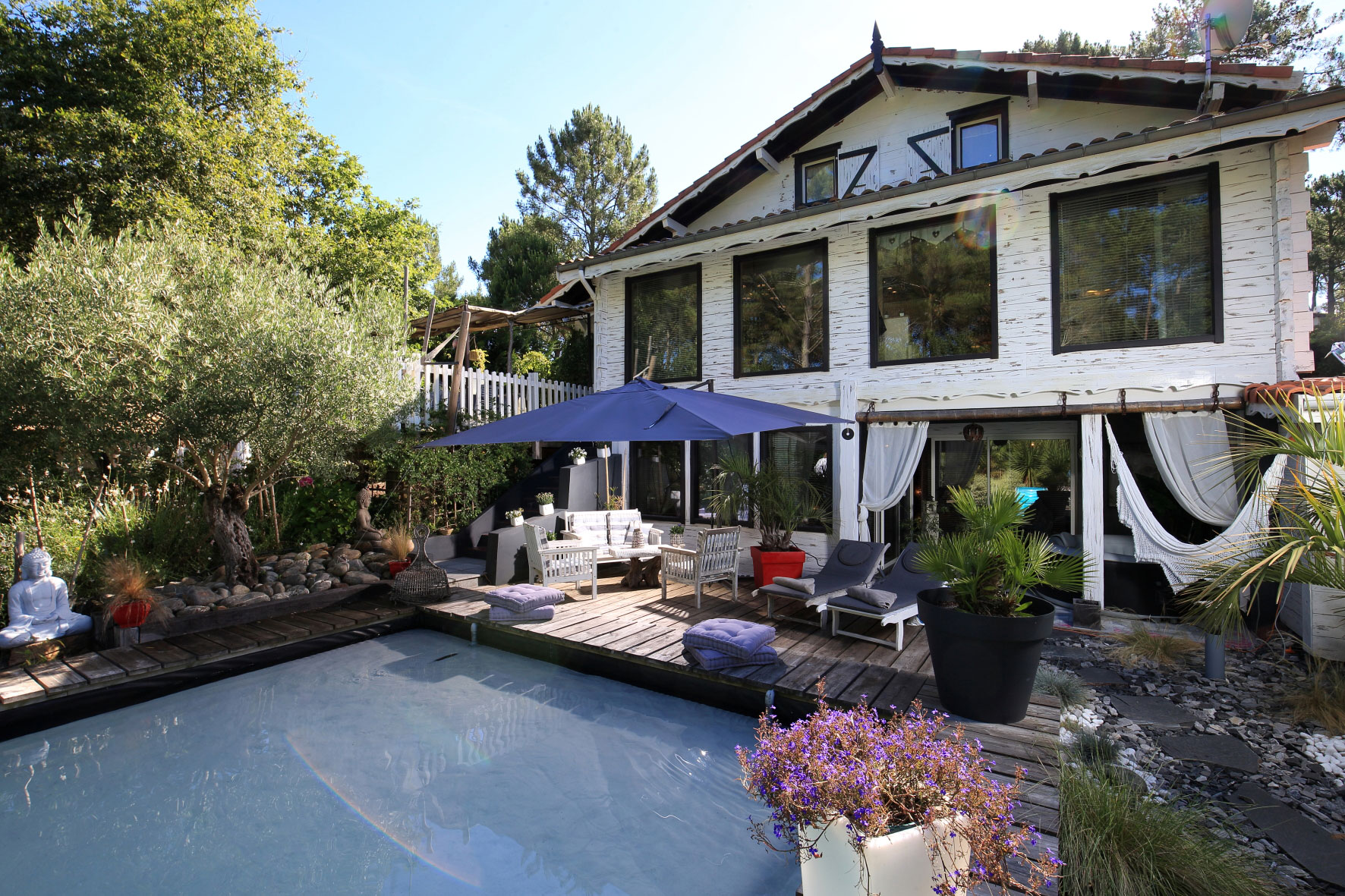 vente maison villa landes biscarosse quartier haute rives avec piscine et proche lac. Black Bedroom Furniture Sets. Home Design Ideas