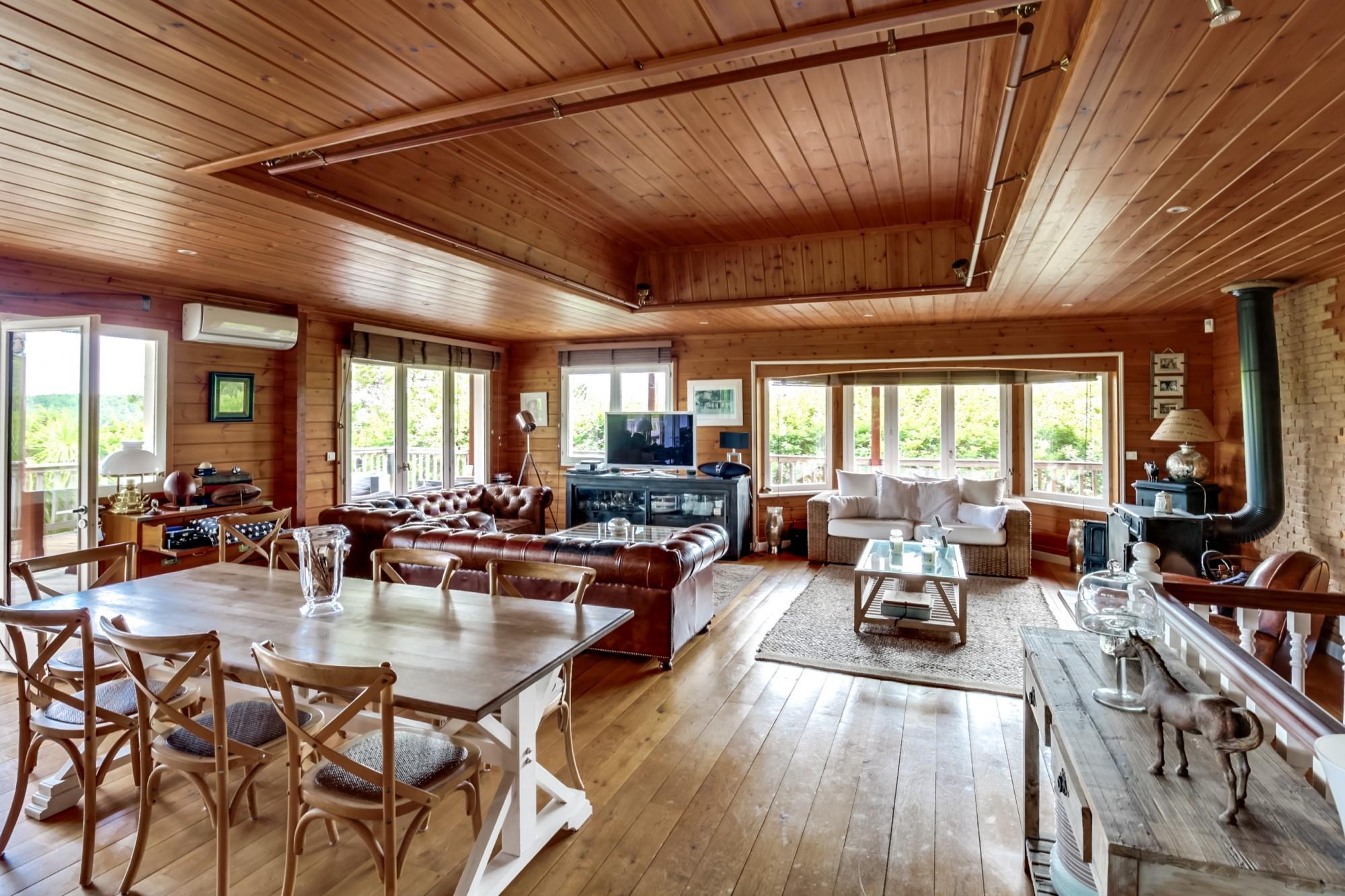 acheter villa en bois avec grande pièce à vivre  bassin arcachon