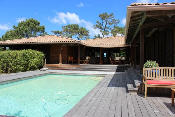trouver villa en bois en vente les pieds dans l'eau Bassin Arcachon