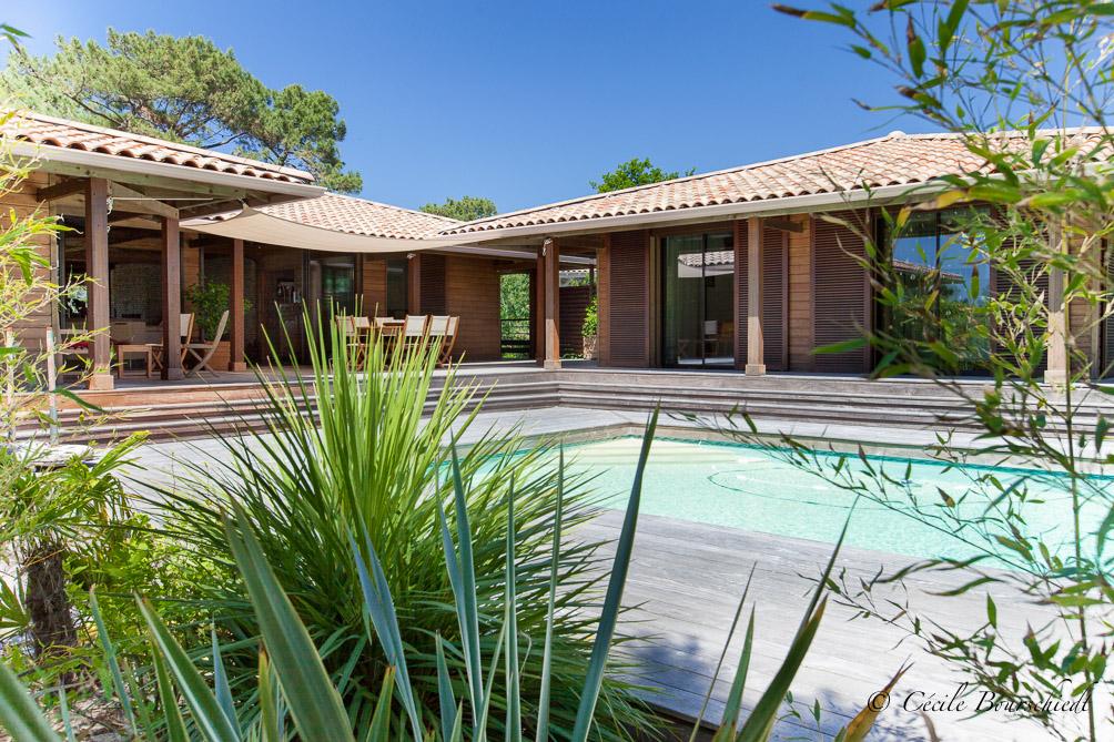 vente villa familiale 5 chambres vue Bassin Arcachon